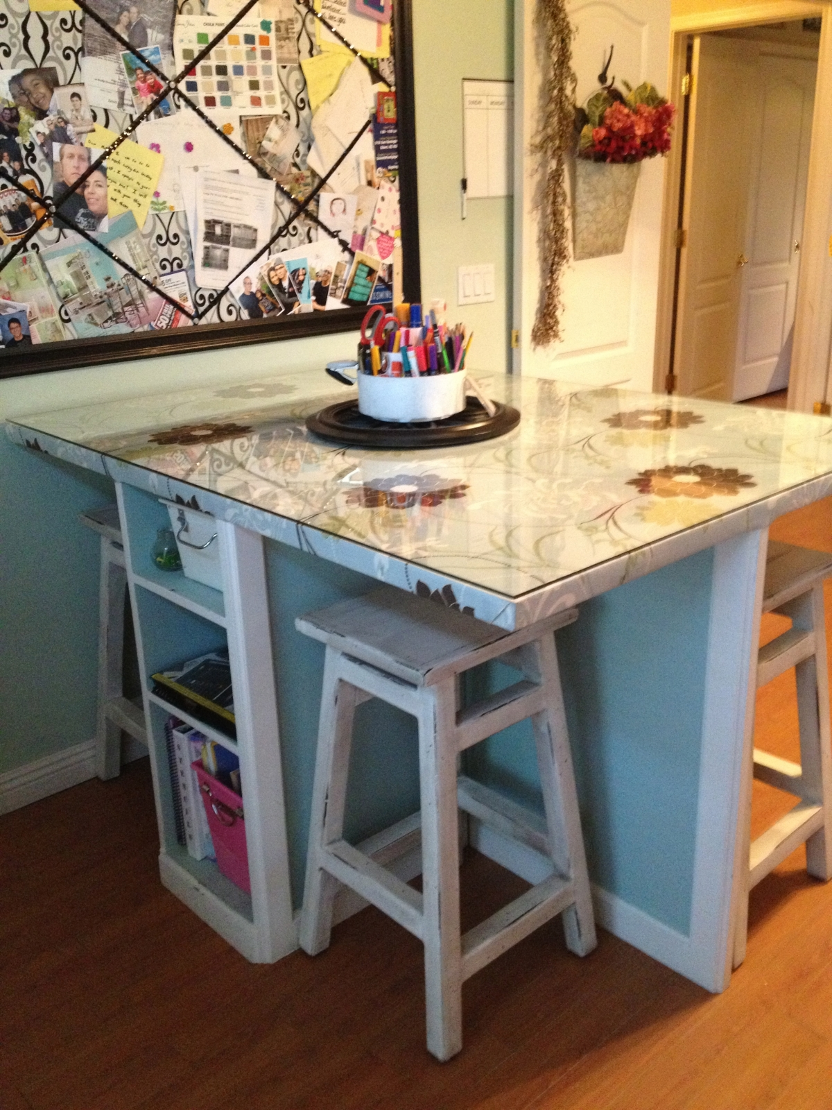 Scrapbook Table Turned Craft Table Art Room Part 2