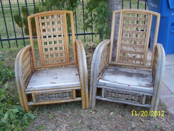 These chairs were in BAD BAD Shape when we got them… $25 for the pair… and  I was even hesitant to pay that!! - It's Summertime! Time To Refresh Old Patio Furniture… » House Of Rumours