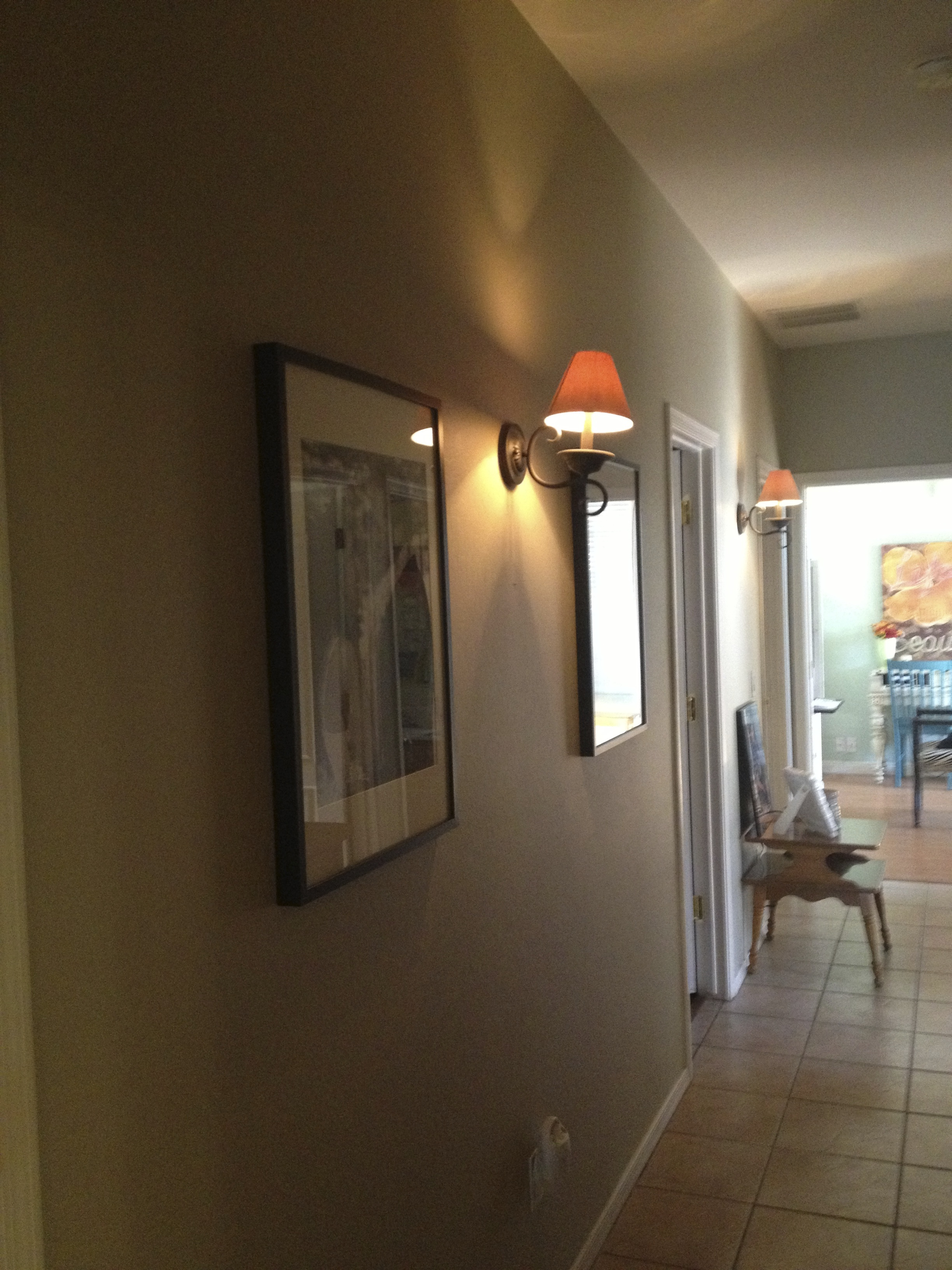 trellis lighting. I Had 2 Big Framed Pictures. . .and THATS IT! Ughh!! Not To Mention, The Lighting In Hallway Was TERRIBLE!! Could Barely See There! Trellis O